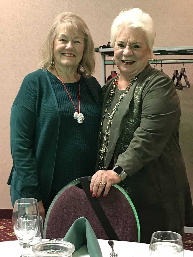 Carson Chapter President Gloria Deyhle pictured with RPEN's Legislative Advocate Marlene Lockard at the CA Chapter's 2018 Holiday Party